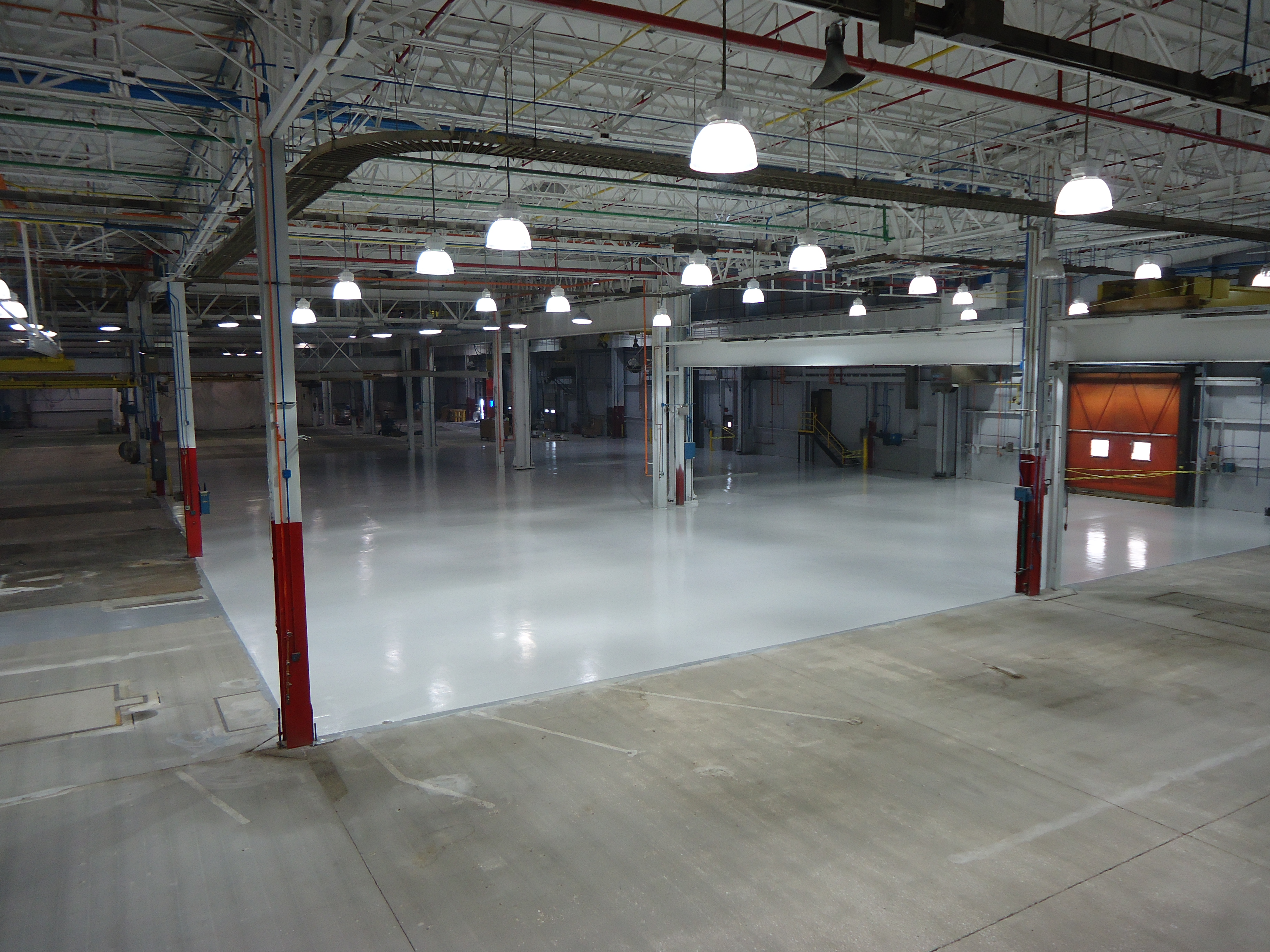 Waterproof floor coatings for industrial buildings